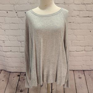 Zara Gray Long sleeve Sweater with side slits